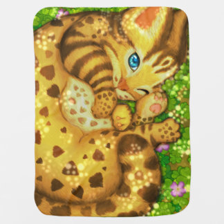 Manta Para Bebe Cobertura do bebê do gato de leopardo