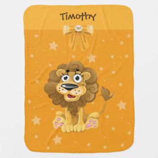 Manta Para Bebe Cobertura do bebê do velo do leão do bebê