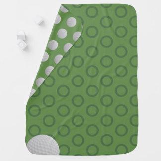 Manta Para Bebe Cobertura do bebê do verde de musgo das bolinhas