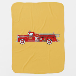 Manta Para Bebe Cobertura do pumper/motor do fogo do vintage