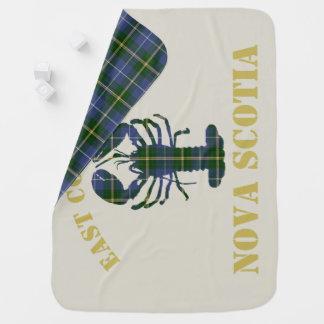 Manta Para Bebe Cobertura do tartan da lagosta de Nova Escócia do