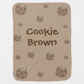 Manta Para Bebe Cobertura marrom do bebê do biscoito