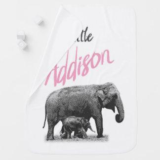 """Manta Para Bebe Cobertura personalizada """"Addison pequeno """" do bebé"""