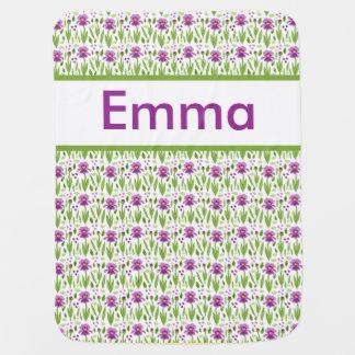 Manta Para Bebe Cobertura personalizada da íris de Emma
