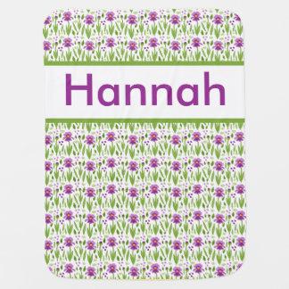 Manta Para Bebe Cobertura personalizada da íris de Hannah
