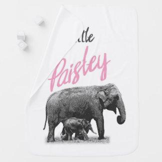 "Manta Para Bebe Cobertura personalizada do bebé ""pouco Paisley """