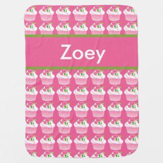 Manta Para Bebe Cobertura personalizada do cupcake de Zoey