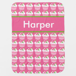 Manta Para Bebe Cobertura personalizada do cupcake do harpista