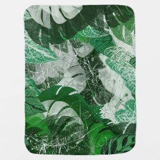 Manta Para Bebe Cobertura tropical do bebê das folhas