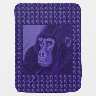Manta Para Bebe Cobertura violeta do bebê do gorila