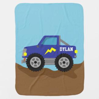 Manta Para Bebe Competindo o monster truck azul, para bebés