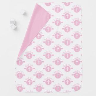 Manta Para Bebe Criança customizável, cor-de-rosa da menina do