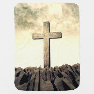 Manta Para Bebe Cruz cristã na montanha