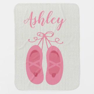 Manta Para Bebe Dançarino cor-de-rosa dos calçados de dedo do pé