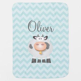 Manta Para Bebe Desenhos animados bonitos engraçados do animal de