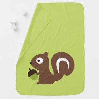 Manta Para Bebe Design bonito do esquilo do bebê