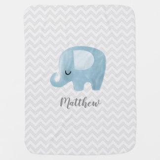 Manta Para Bebe Elefante bonito cobertura personalizada do bebê do