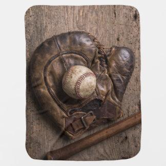 Manta Para Bebe Equipamento de basebol do vintage