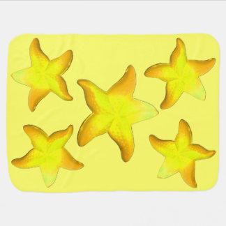 Manta Para Bebe Estrela do mar da gama-guta