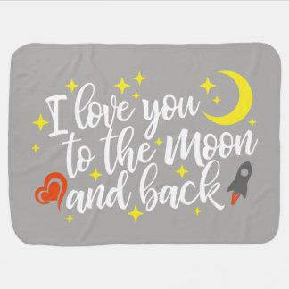 Manta Para Bebe Eu te amo à lua e à parte traseira