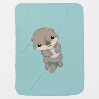 Manta Para Bebe Filhote de cachorro bonito da lontra do bebê