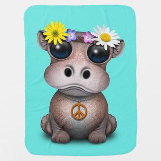 Manta Para Bebe Hippie bonito do hipopótamo do bebê