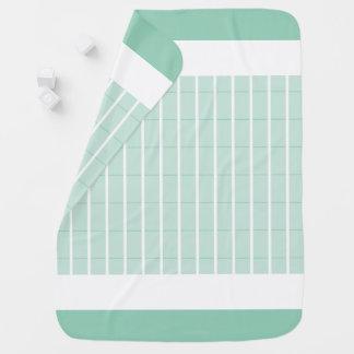 Manta Para Bebe Hortelã-Xadrez-Acento-Bebê-Cobertura-Dois-Tomado