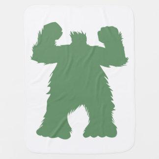 Manta Para Bebe Ilustração retro verde do Yeti