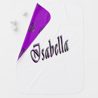 Manta Para Bebe Isabella, nome, logotipo, cobertura reversível do