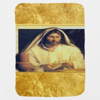 Manta Para Bebe Jesus que quebra a textura do ouro de matthew