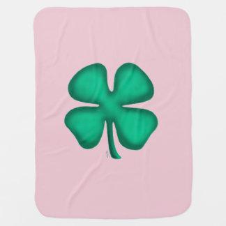 Manta Para Bebe Lado irlandês afortunado da cobertura 1 do rosa de