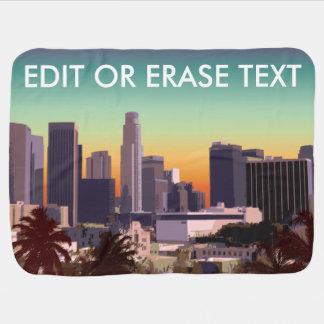 Manta Para Bebe Los Angeles do centro - imagem customizável