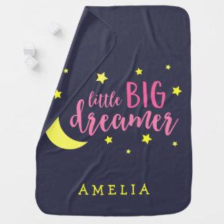 Manta Para Bebe Lua e sonhador grande pequeno cor-de-rosa das
