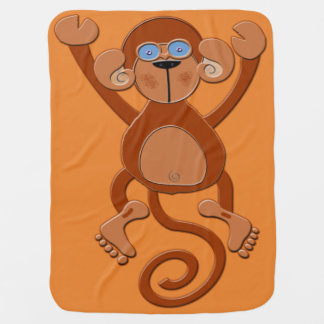 Manta Para Bebe Macaco de Brown da sela