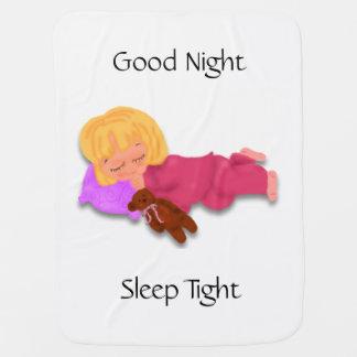 Manta Para Bebe Menina de sono com urso de ursinho