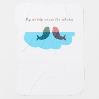 Manta Para Bebe Meu pai salvar os miúdos das baleias gerais
