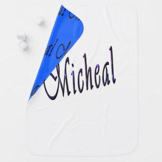 Manta Para Bebe Micheal, nome, do logotipo do Reversible cobertura