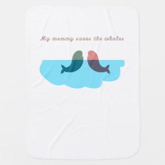Manta Para Bebe Minha mamãe salvar os miúdos das baleias gerais