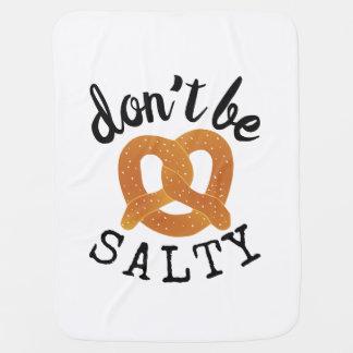 Manta Para Bebe Não seja chalaça engraçada salgado do pretzel