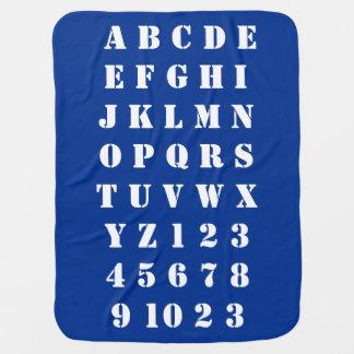 Manta Para Bebe Números dos alfabetos das crianças do bebê dos