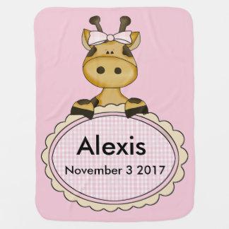 Manta Para Bebe O girafa personalizado de Alexis