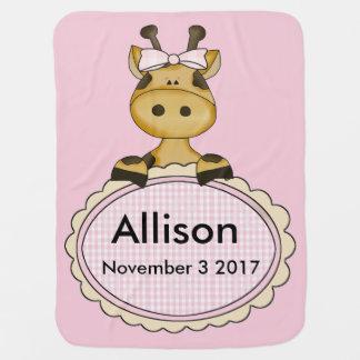 Manta Para Bebe O girafa personalizado de Allison