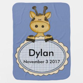 Manta Para Bebe O girafa personalizado de Dylan