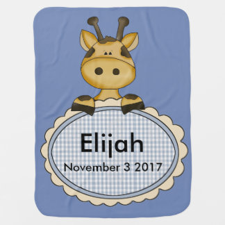 Manta Para Bebe O girafa personalizado de Elijah