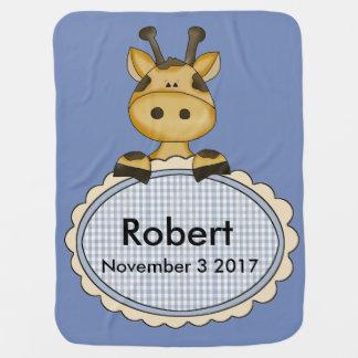 Manta Para Bebe O girafa personalizado de Robert