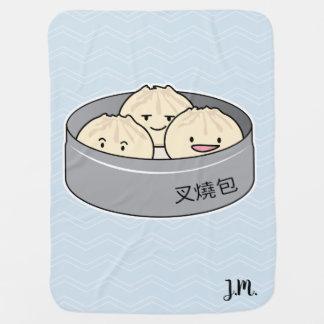 Manta Para Bebe O pequeno almoço chinês do dim sum do bolo da