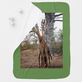 Manta Para Bebe Os gêmeos África do girafa personalizam destinos