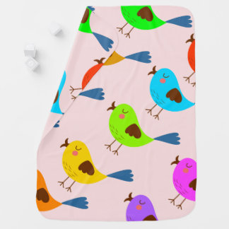 Manta Para Bebe Pássaro bonito do vetor