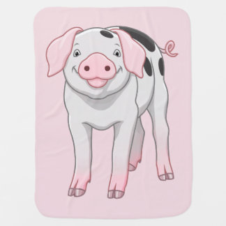 Manta Para Bebe Porco velho bonito dos pontos de Gloucestershire