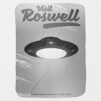Manta Para Bebe Poster vintage do UFO de Roswell da visita